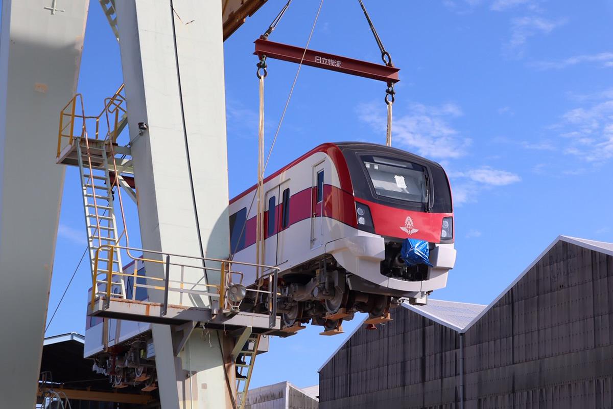 日立、バンコク都市鉄道レッドラインの新型鉄道車両を出荷開始