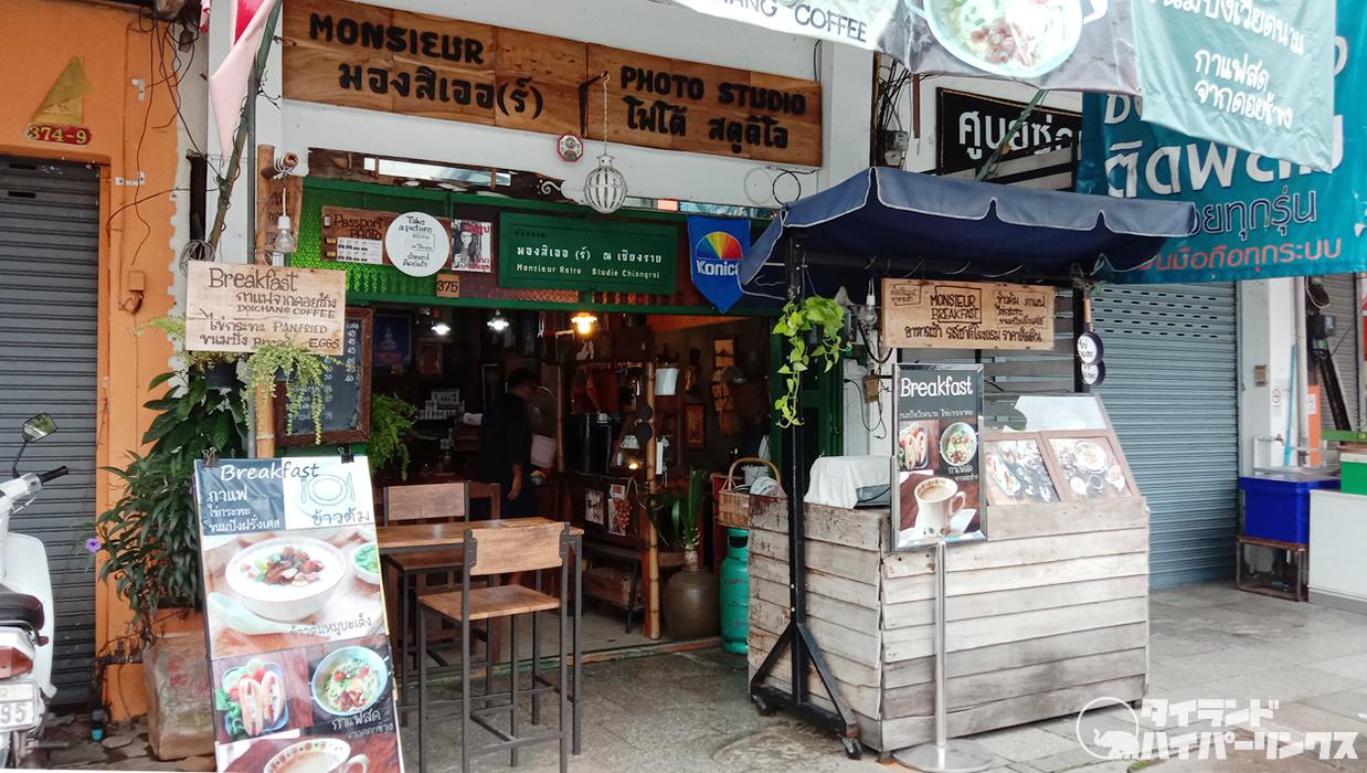 チェンライのカフェで朝食を~「Monsieur」でカイガタとコーヒー