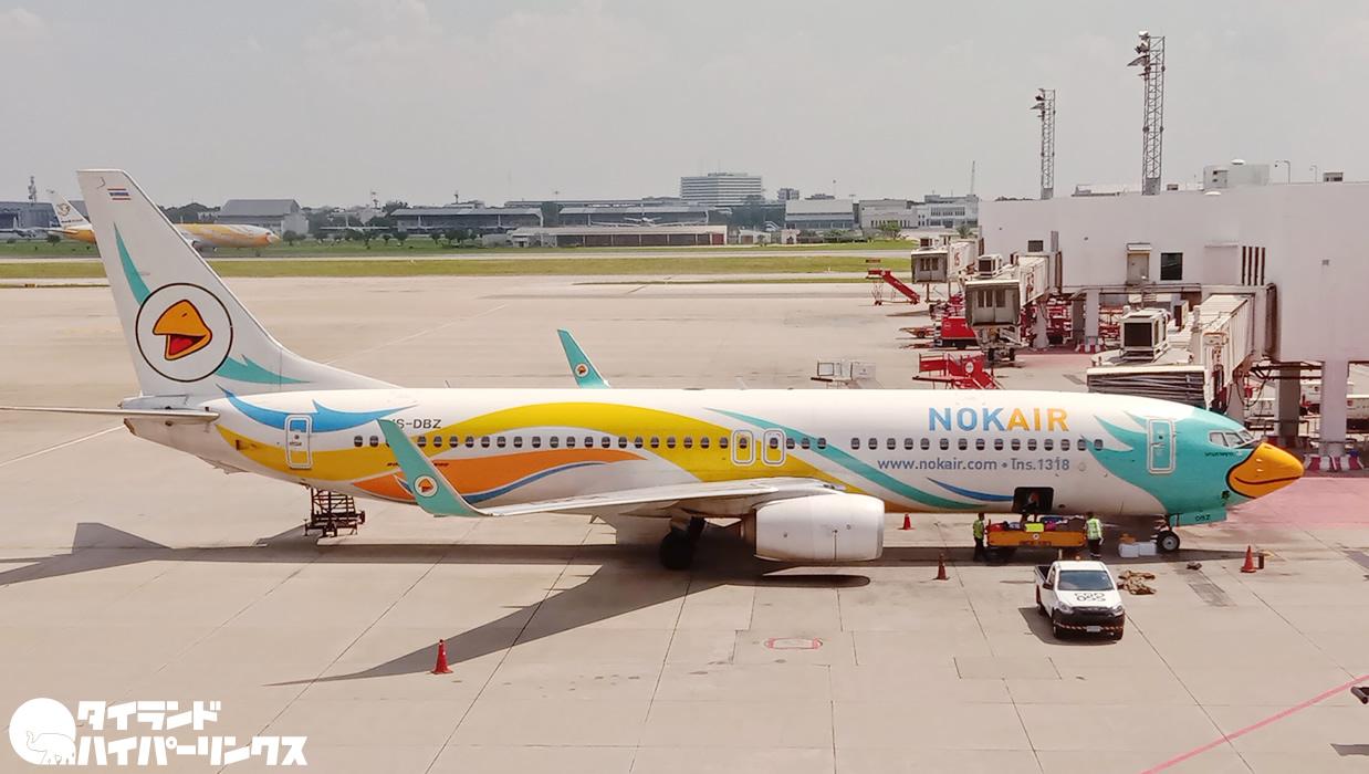 ノックエアDD8312便でバンコクからチェンマイへ、機材はボーイング737-800