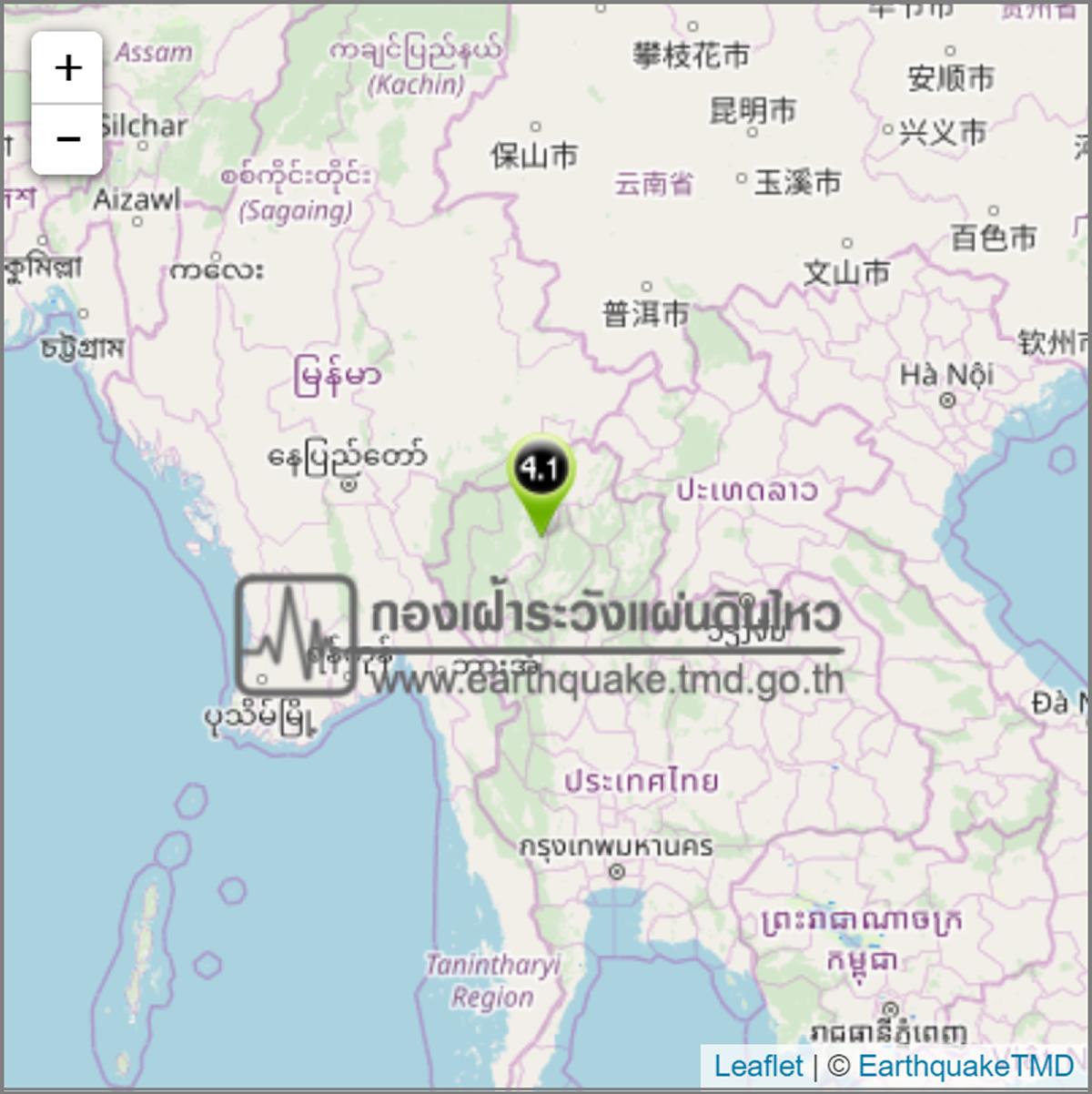 タイ北部チェンマイ県ドーイサケット郡でM4.1の地震