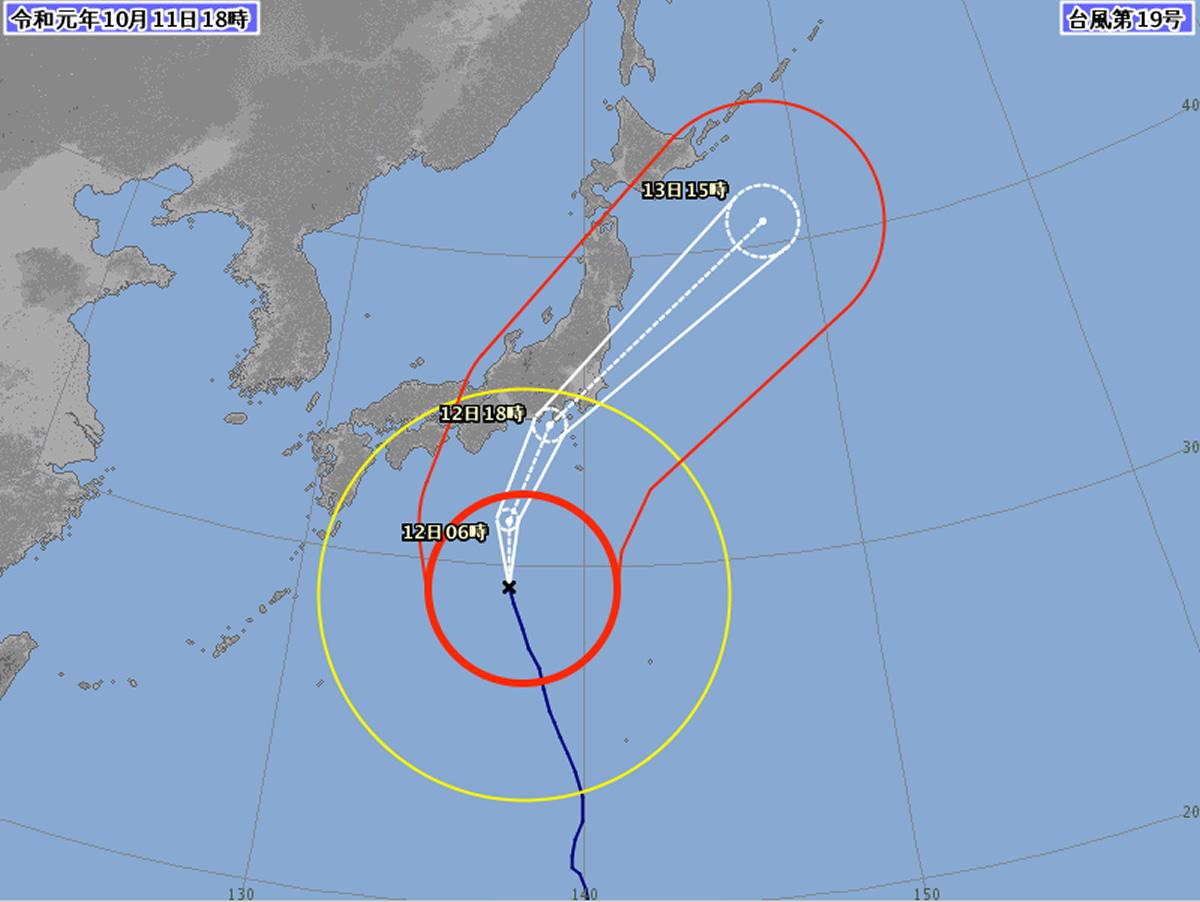 台風19号が東海・関東直撃へ!SNSではタイからの応援も多数