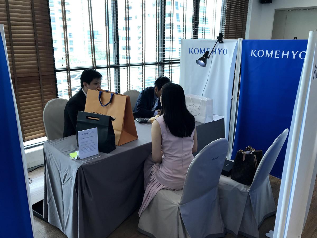 タイ現地で実施した買取イベントの様子