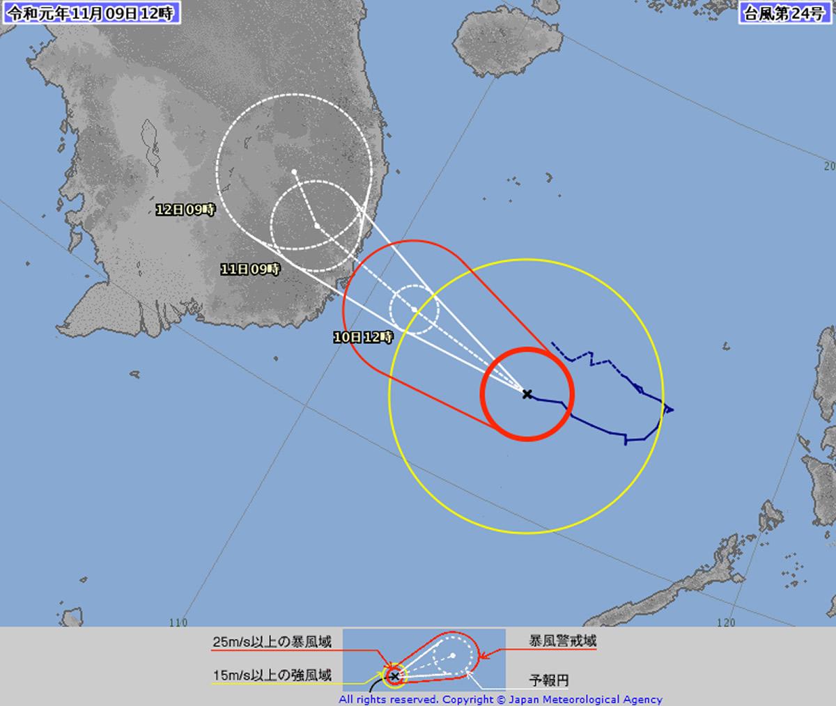 2019年 台風24号(ナクリー)がタイに影響