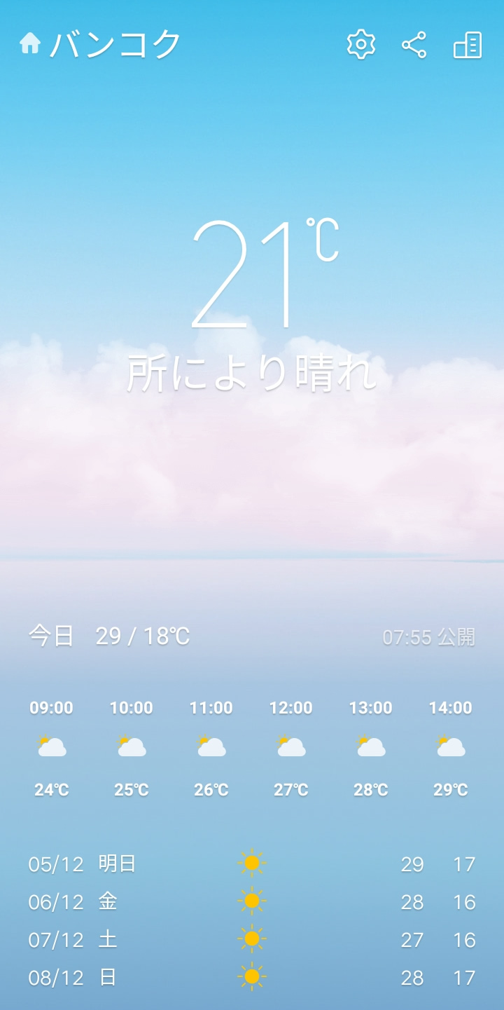 肌寒い今朝のバンコク、気温21度で上衣を着た