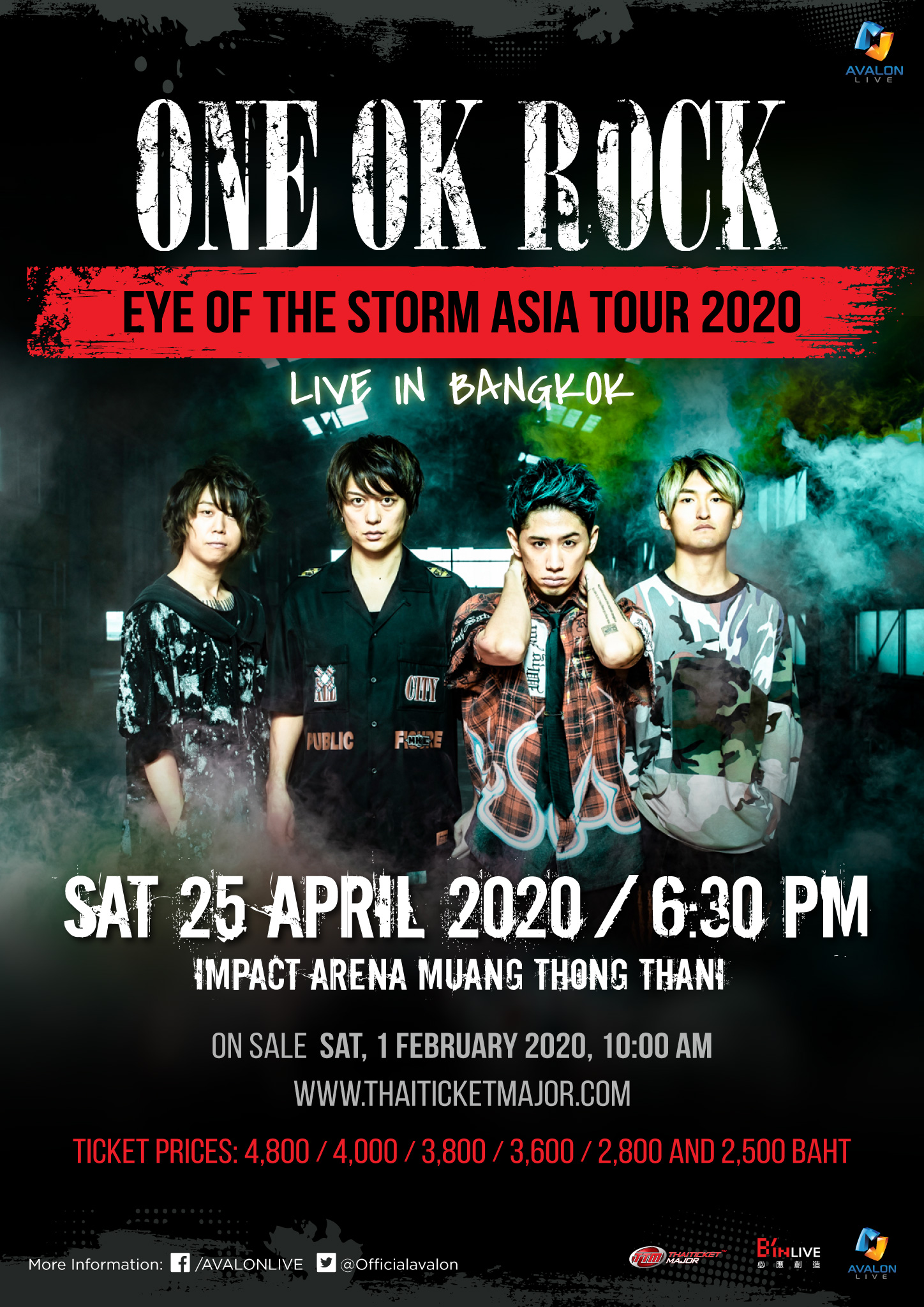 """""""EYE OF THE STORM ASIA TOUR 2020"""" LIVE IN BANGKOK"""