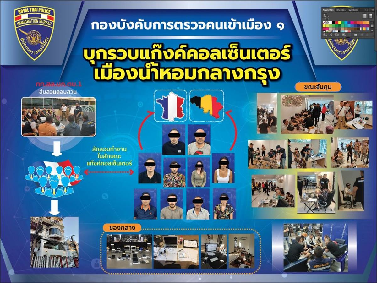 バンコク・トンローに違法コールセンター、フランス人10人逮捕