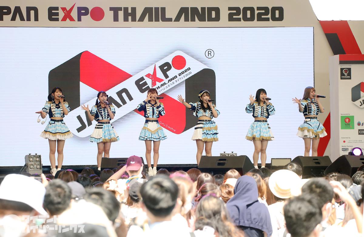 JAPAN EXPO THAILAND 2020 屋外でのステージ