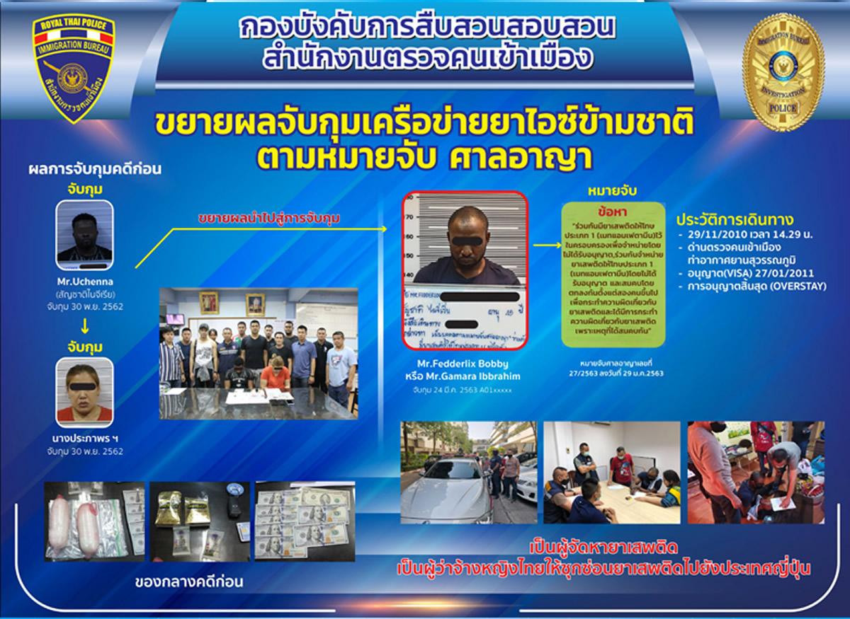 タイから日本への覚醒剤密輸を首謀、オーバーステイ9年のナイジェリア人男逮捕