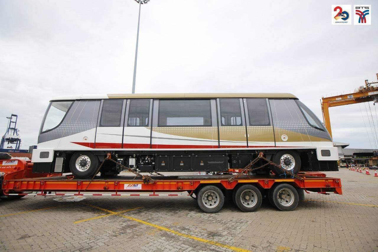 ゴールドラインの車両がタイに到着、2020年中に開業予定
