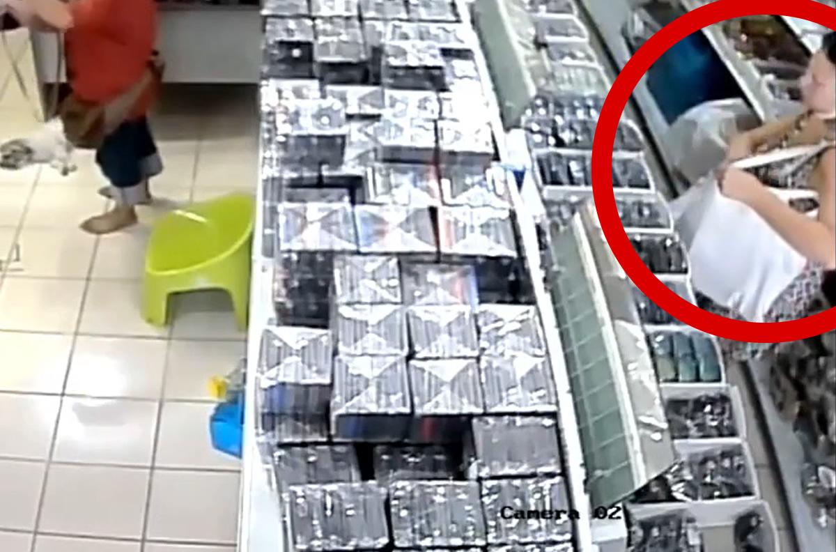 チェンマイで万引きオージー女逮捕、防犯カメラが完璧に捉える