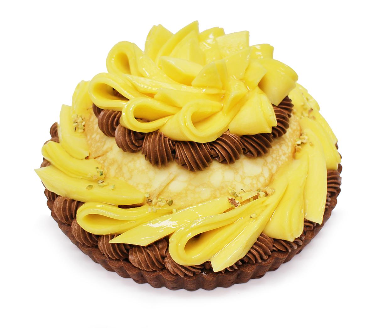 ○タイ産「ゴールデンマンゴー」のショコラミルクレープ ベース:ビターチョコレート
