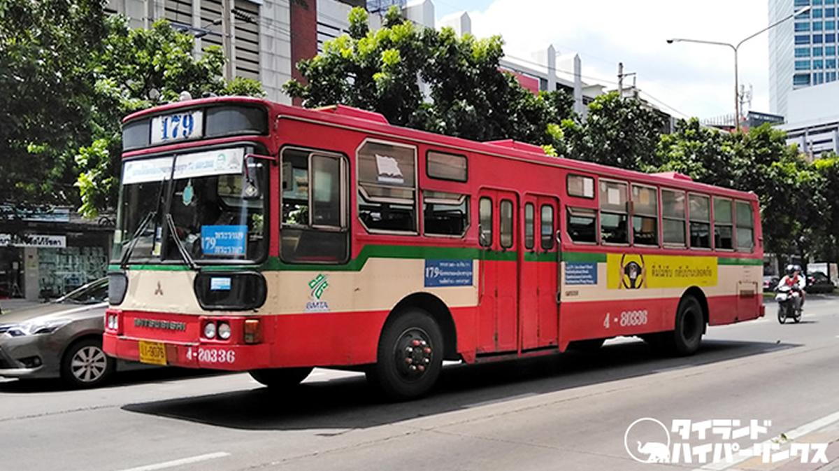 【新型コロナ対策】バンコク路線バス、乗降時にスマホでチェクイン&チェックアウト