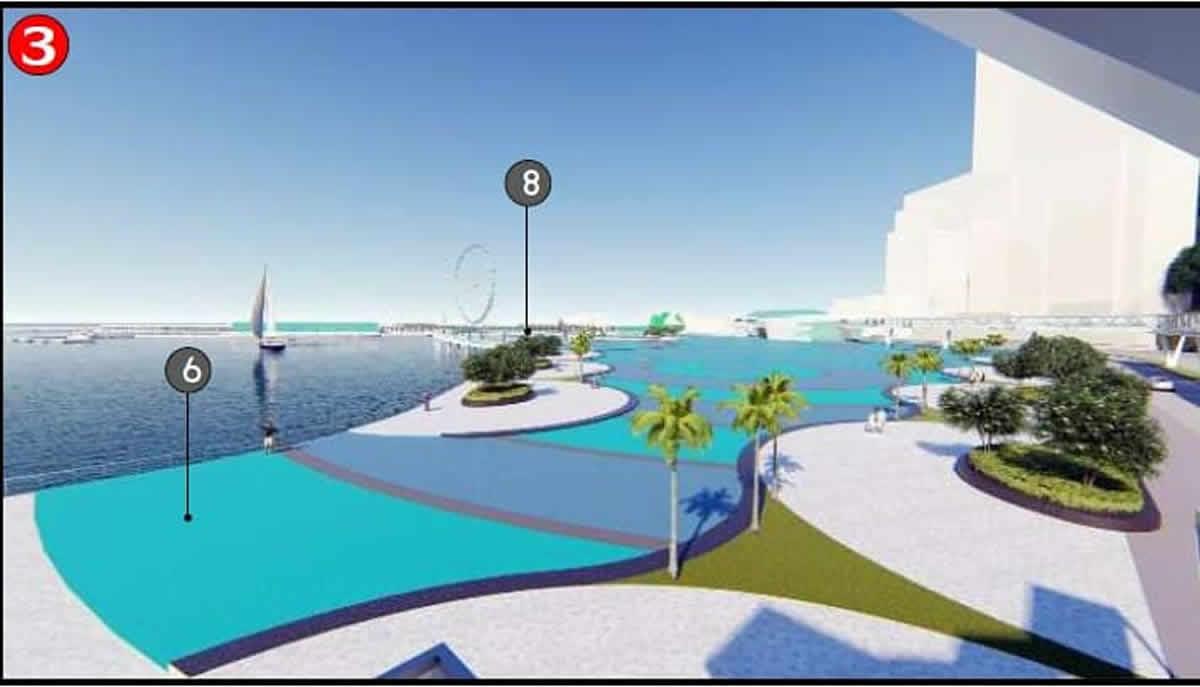 パタヤ市がバリハイ埠頭の未来イメージを公開、巨大観覧車やモノレールも