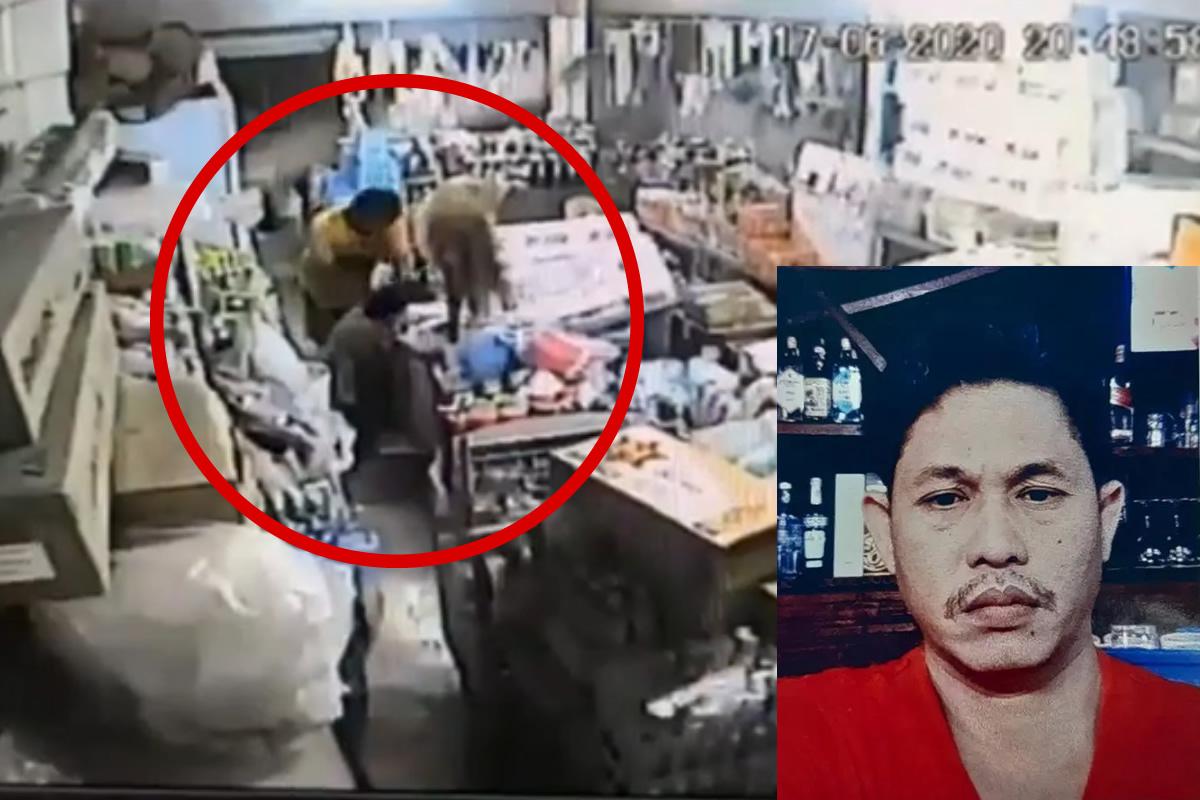 パタヤで高齢者店主をナイフで襲った強盗が逃走中、犯行の映像を公開