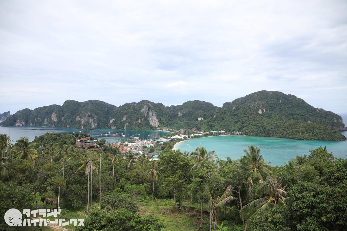 ピピ島の絶景!「ビューポイント」への心臓破りの階段と坂