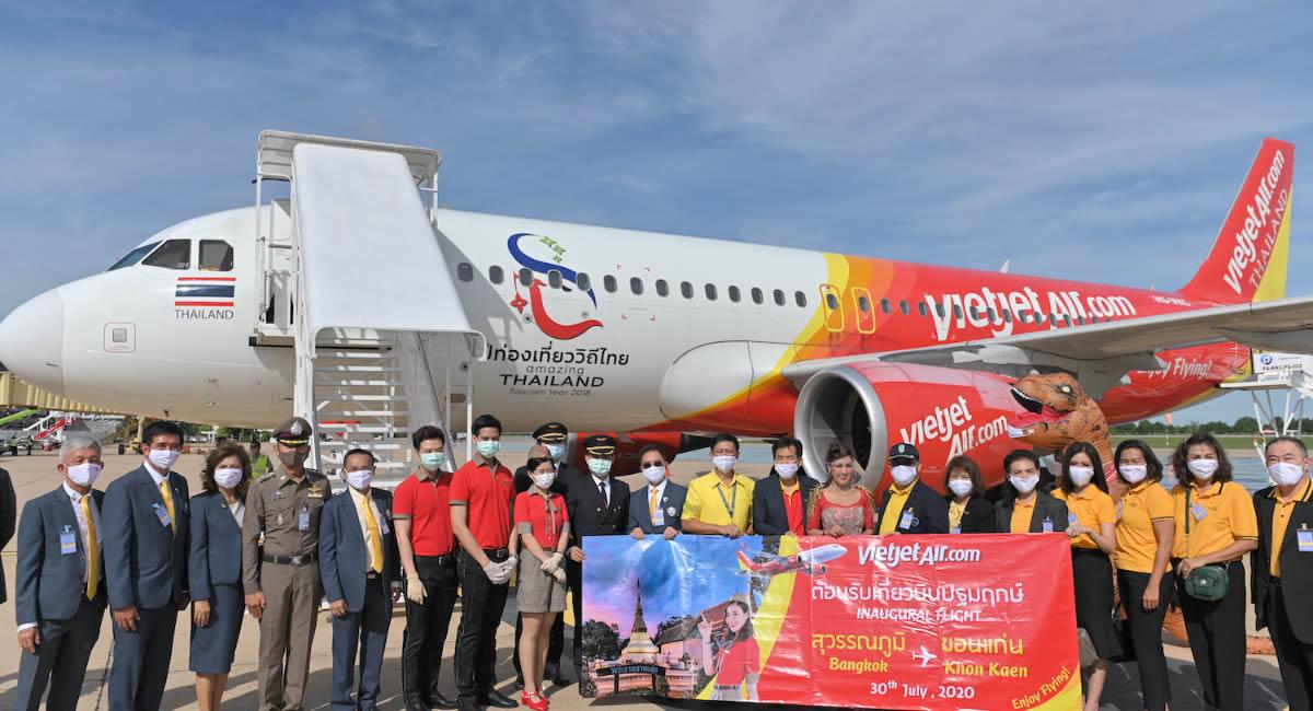 タイ・ベトジェット、バンコク=コンケーン就航でインリーの機上コンサート開催、5バーツプロモも
