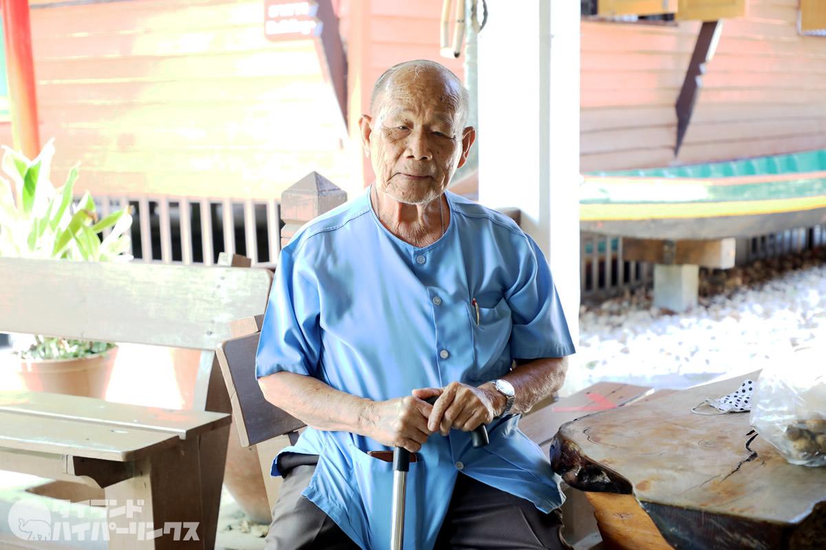 「タウィー民俗資料博物館」創設者のタウィー・ブラナケート軍曹