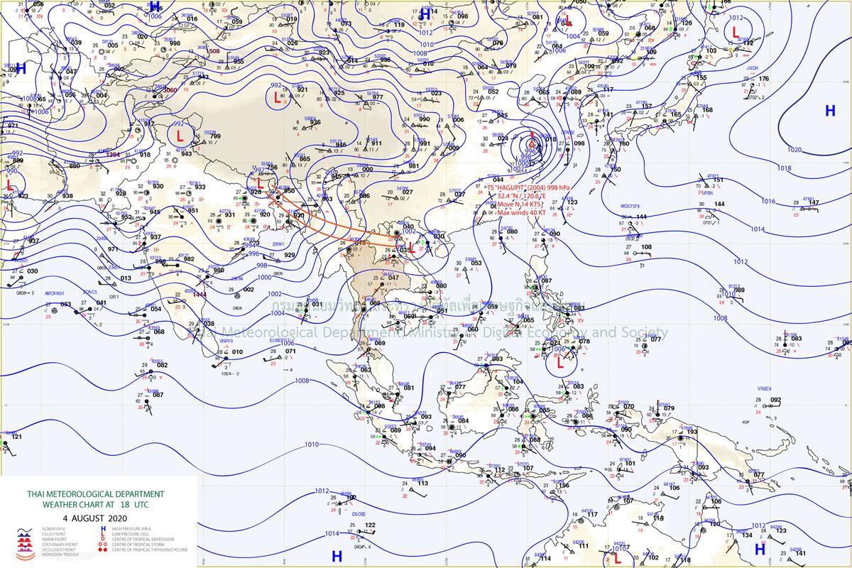 タイ気象局、30県での大雨を警告