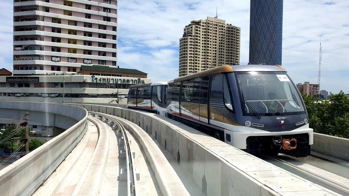 バンコク都市鉄道GOLD LINEは2020年10月より運行開始
