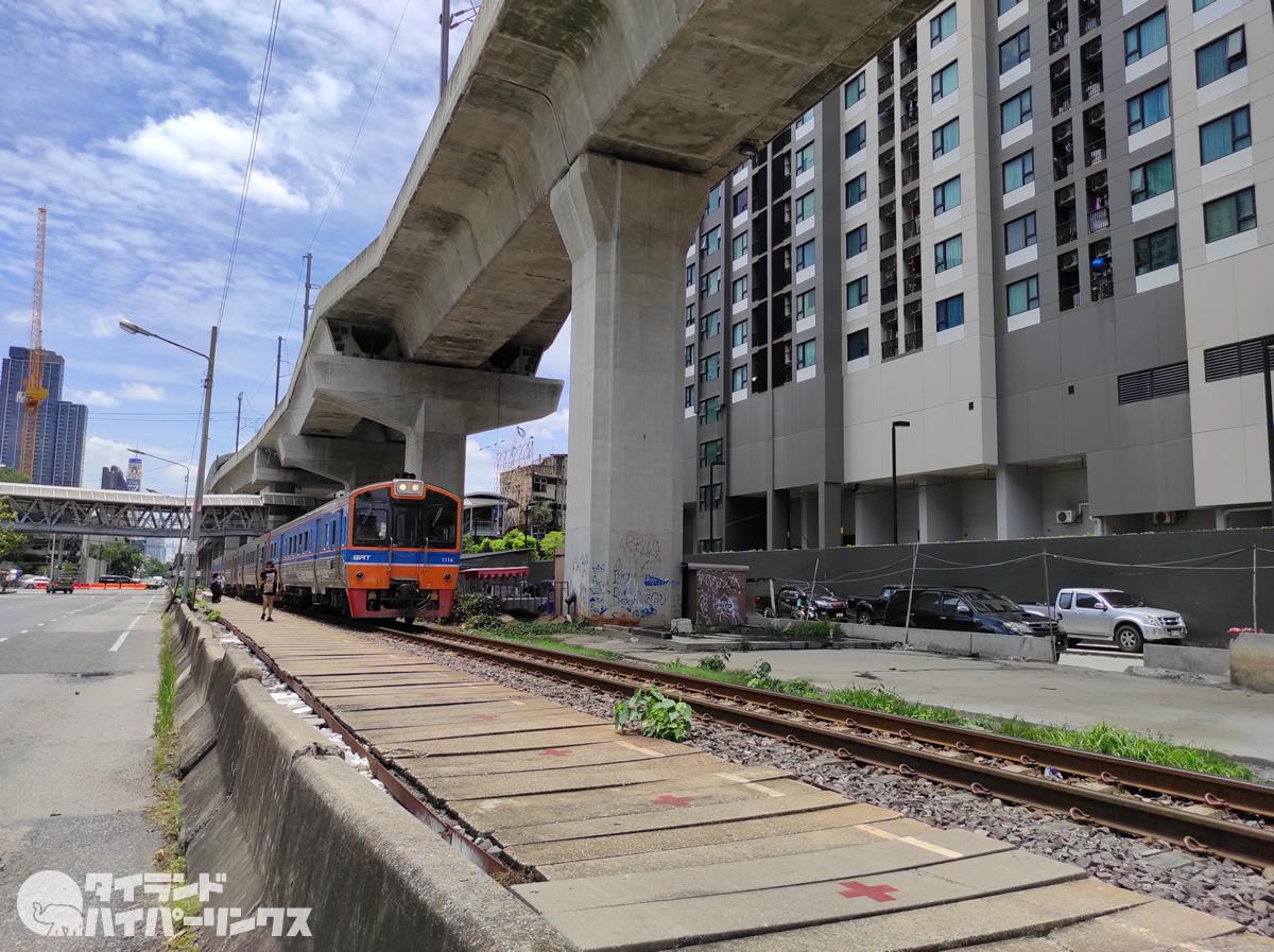 タイ国鉄アソーク駅?いや、タイ国鉄アソーク停留所?