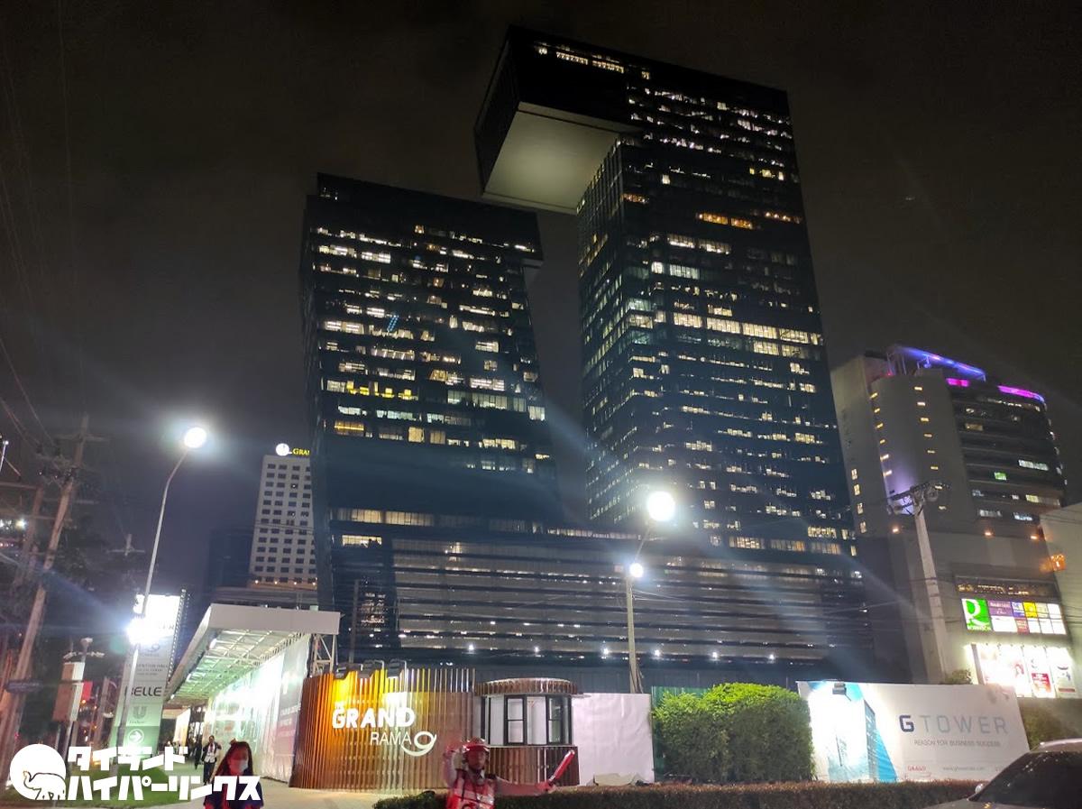 改めてバンコクの「Gタワー」を見上げて冷や冷や