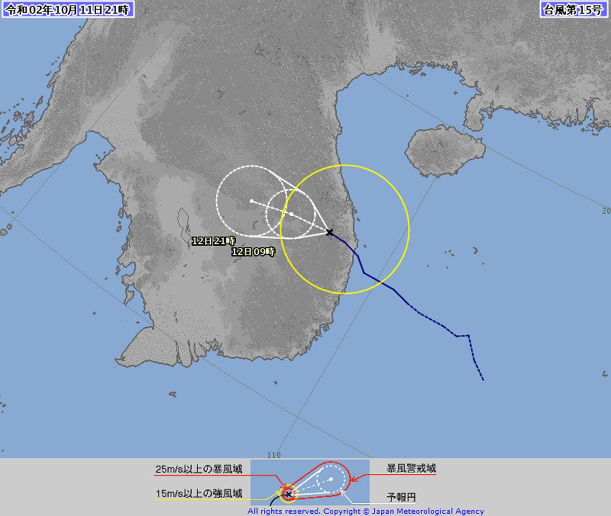 台風15号「リンファ」がタイの天候に影響
