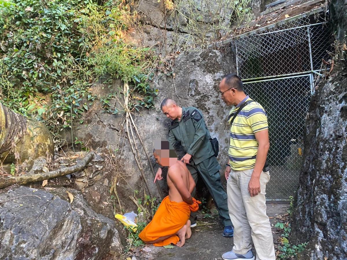 殺人僧侶を逮捕、老人を撲殺し薬物反応も