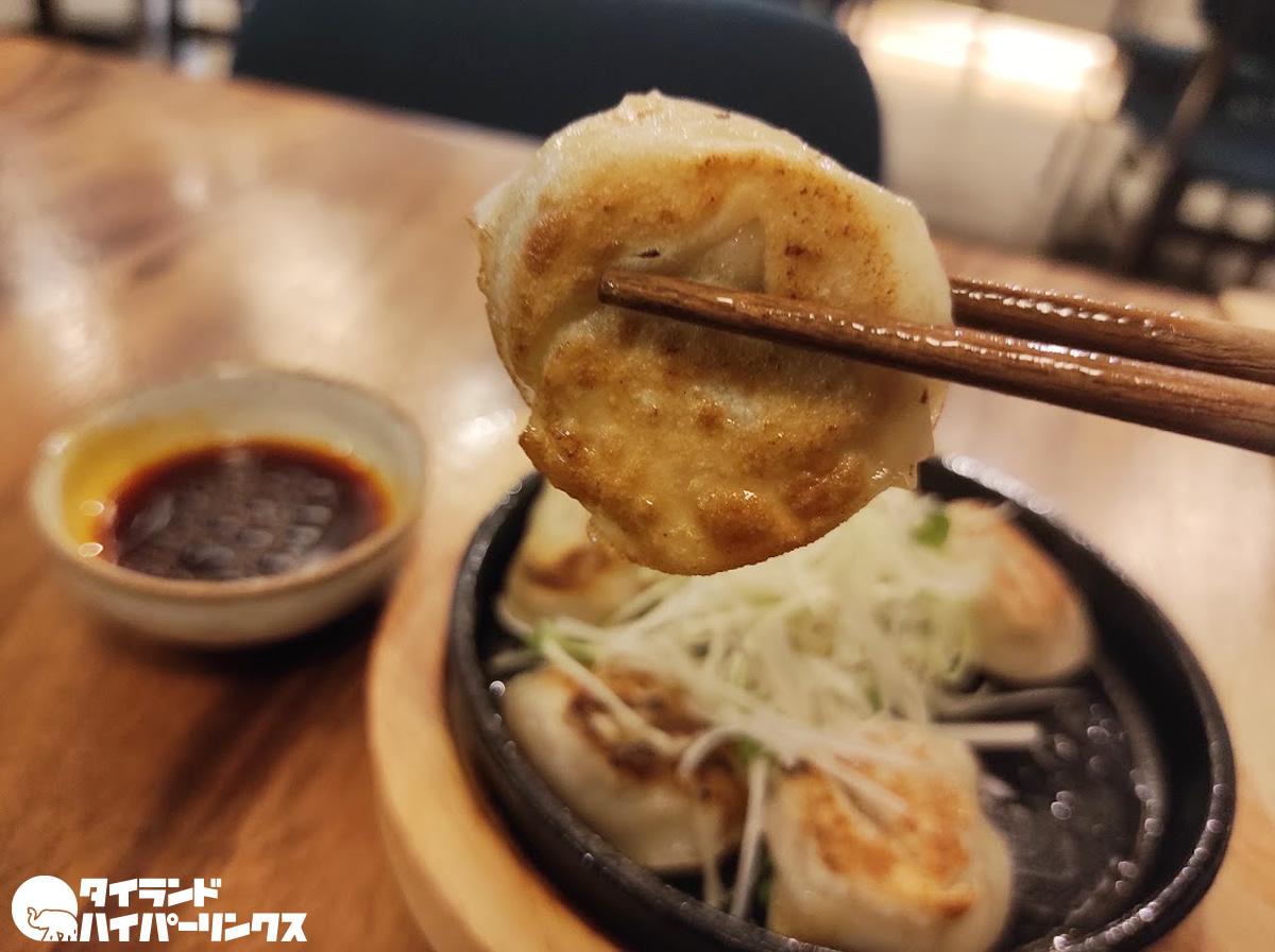 TONCHIN「鉄板餃子」(100バーツ)