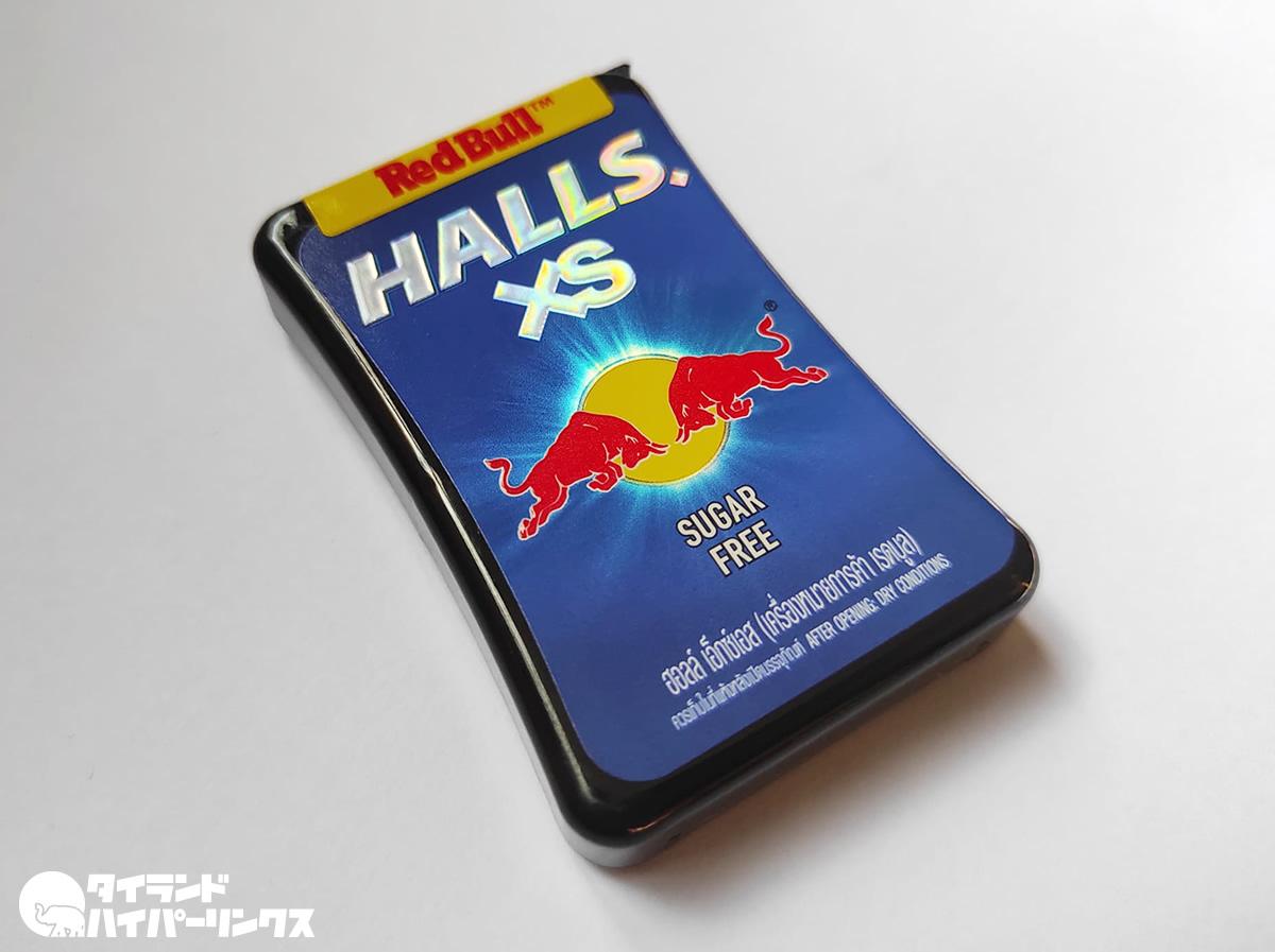 レッドブル味のホールズ「Halls XS Red Bull」~のど・はなスッキリ翼をさずける