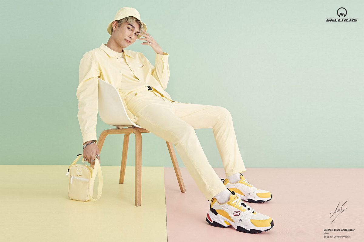パステルカラーのスケッチャーズ「SKECHERS X Mew Collection: Every Day is a Good Day」