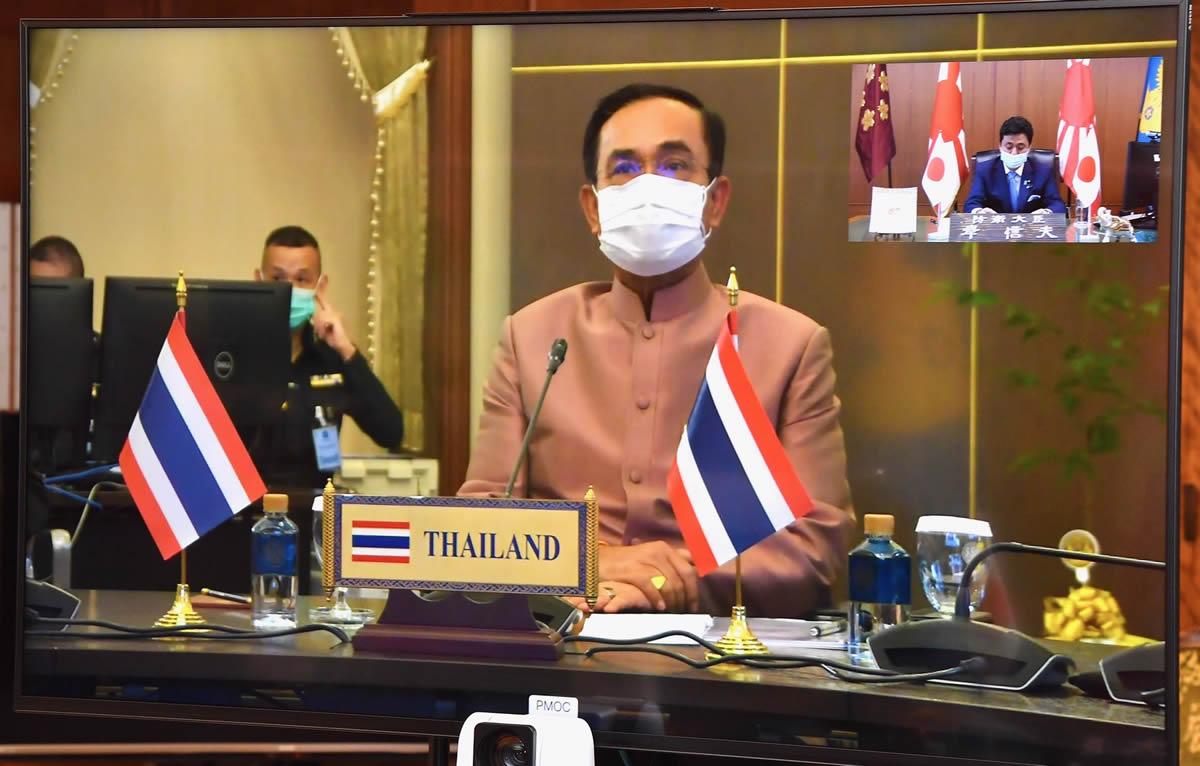プラユット首相兼国防相と岸防衛相がテレビ会談