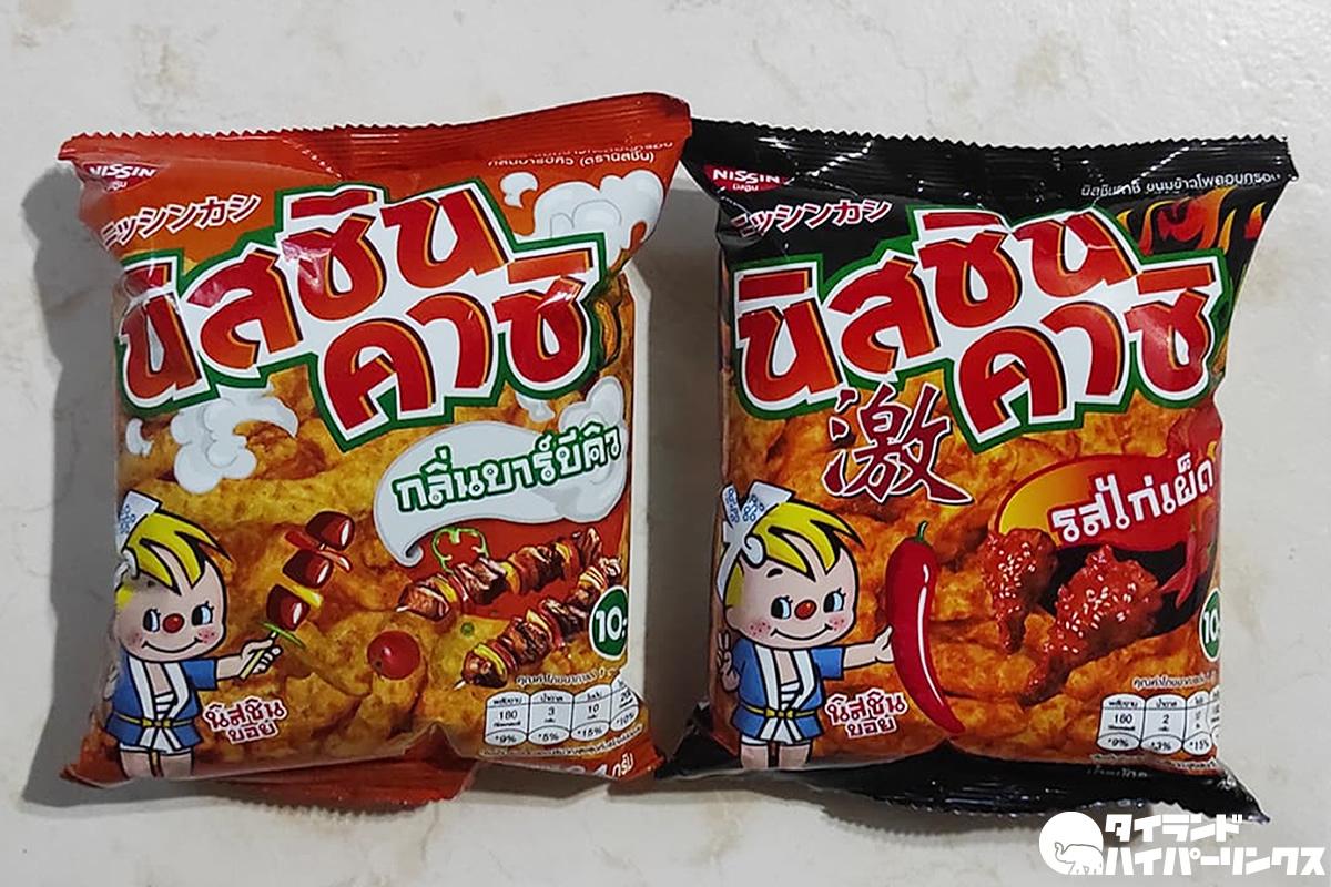 タイ日清の菓子は「ニッシンカシ」!パッケージには出前坊や