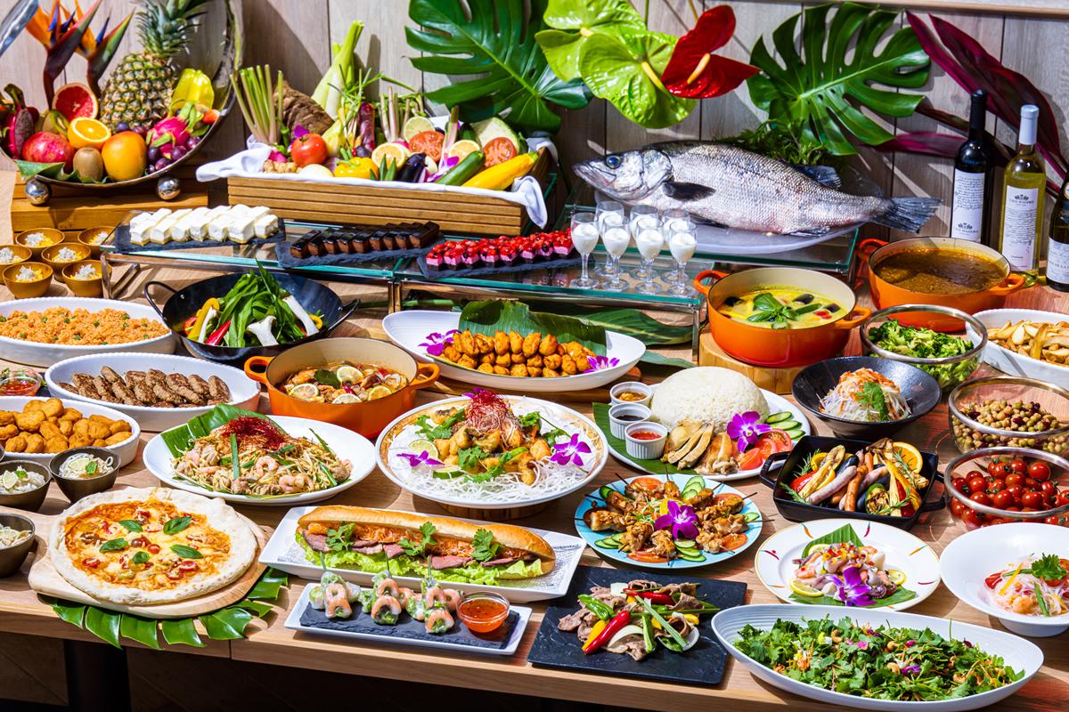 熱海で夏季限定「アジアンリゾート・ブッフェ」、タイ料理メニューも