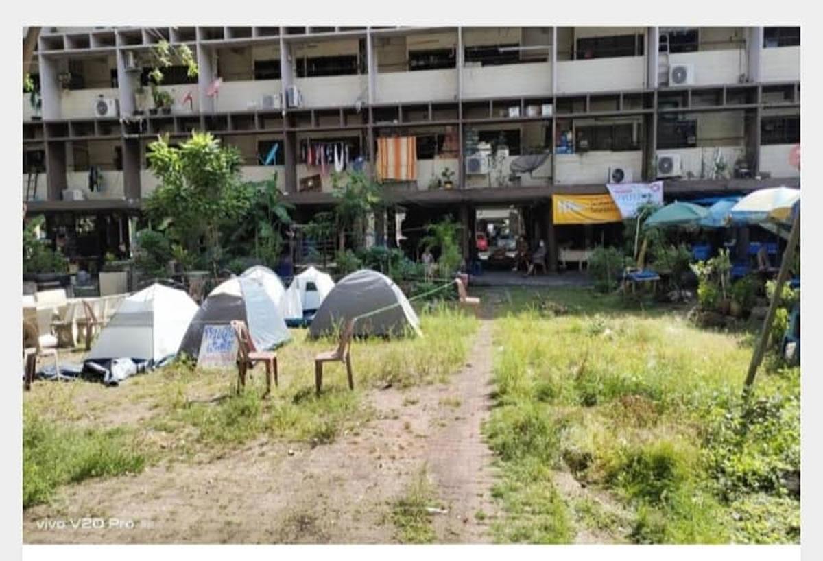 テントに隔離された陽性者7人が病院に移動、ディンデーン区役所が手配