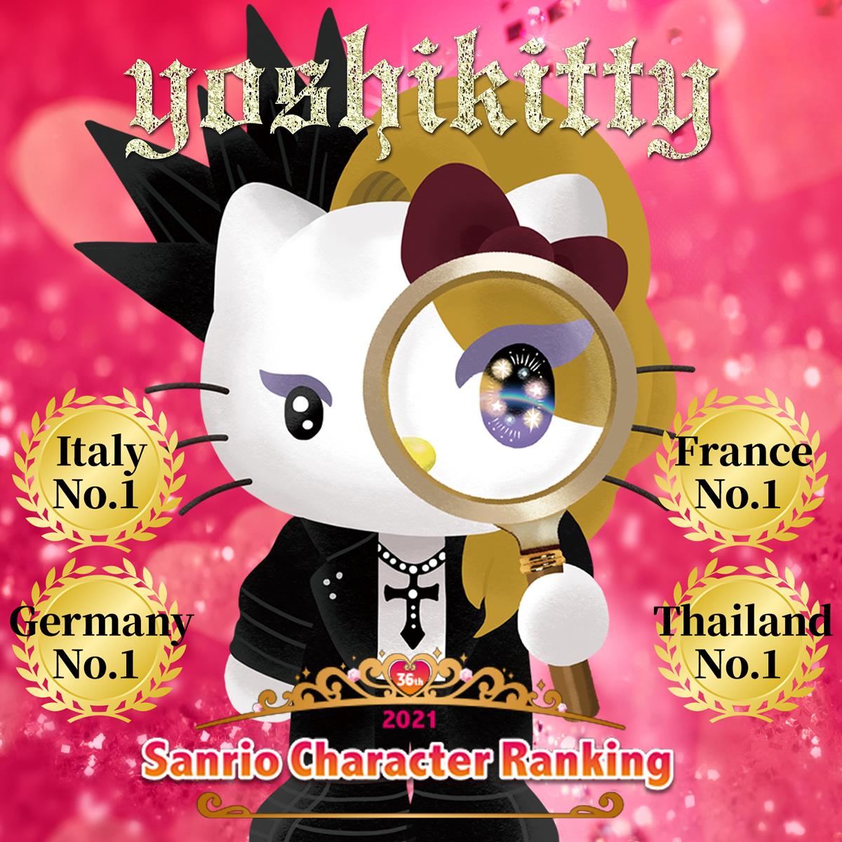 yoshikittyがタイで1位!サンリオキャラクター大賞の海外順位で大快挙