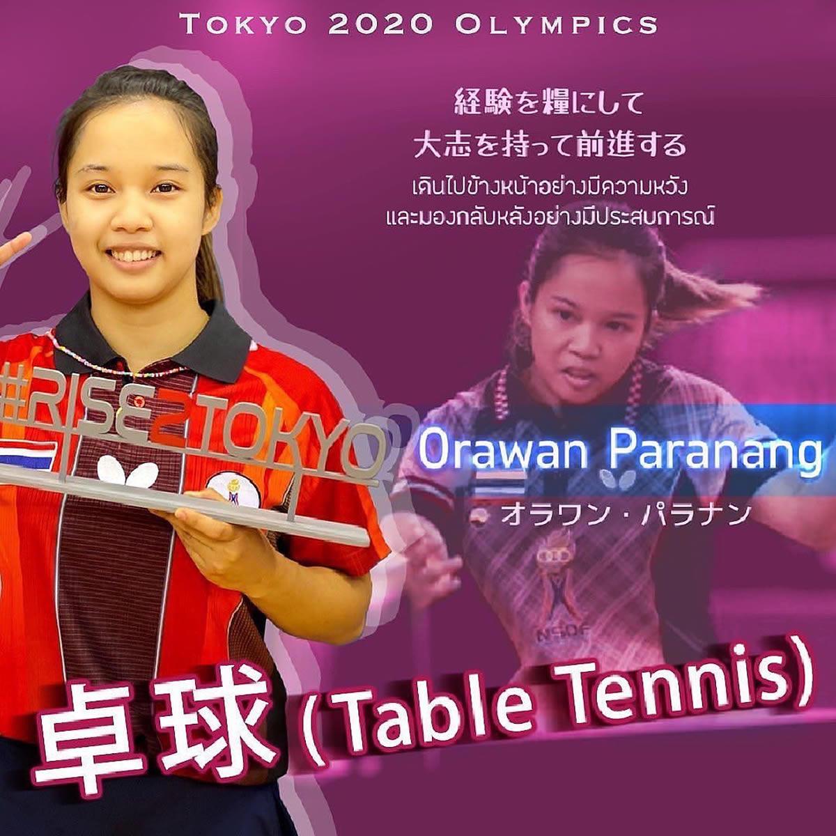 オラワン・パラナン(ティップ)選手[女子卓球タイ代表]東京2020オリンピック