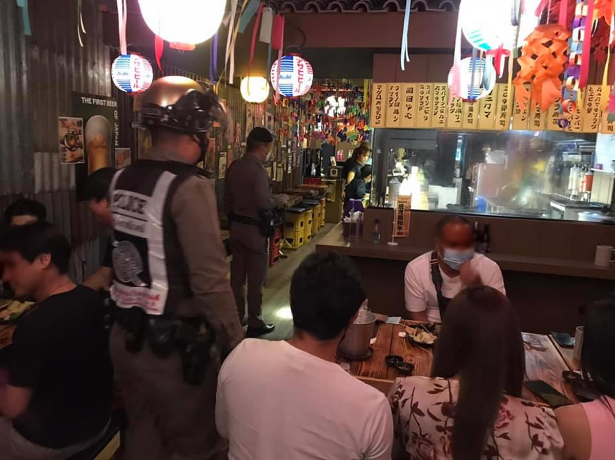 チェンマイの日本料理店を摘発、営業時間を守らず店内飲酒も