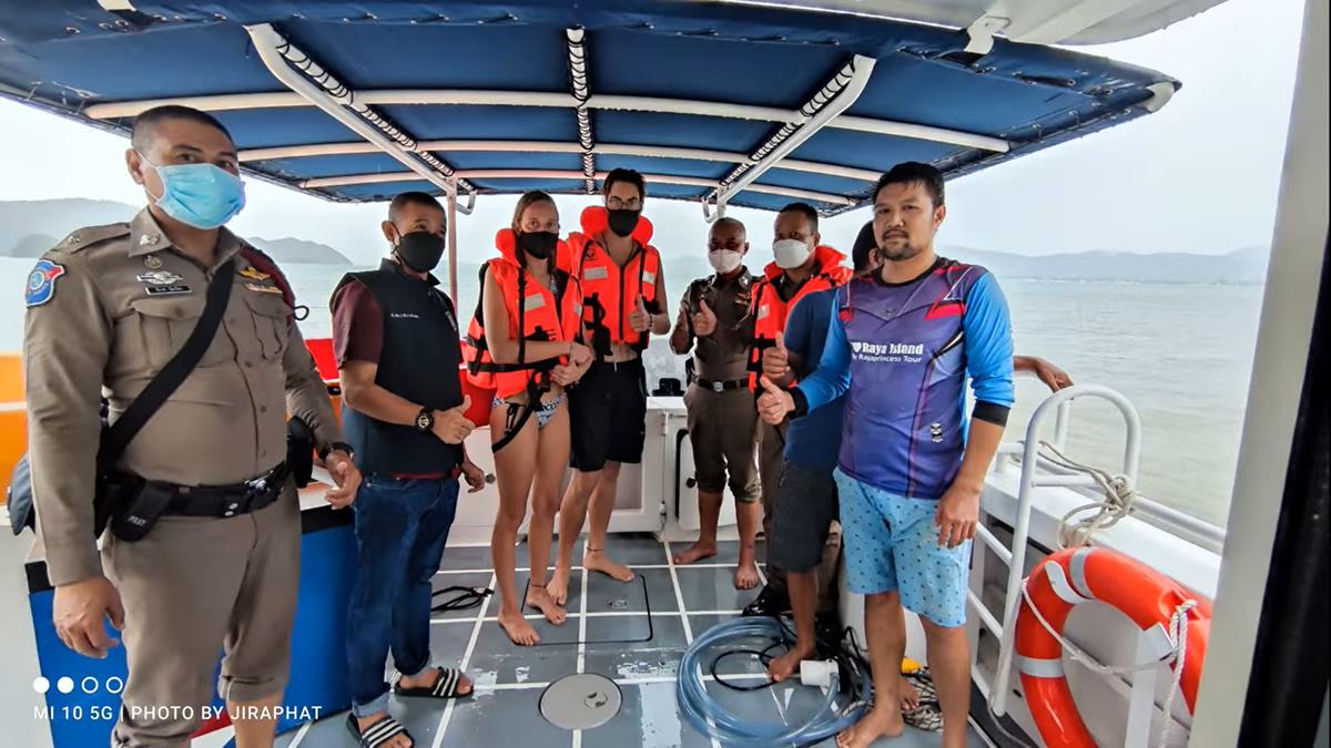 カヤックのオランダ人カップルがタナーン島で立ち往生、観光警察が無事救助
