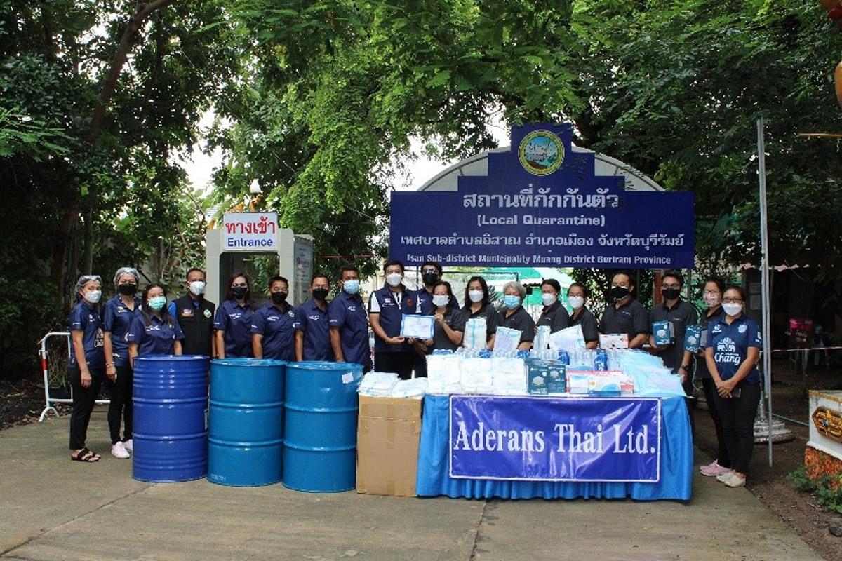 アデランス、タイでの新型コロナ対策の備品等必要物資を寄贈