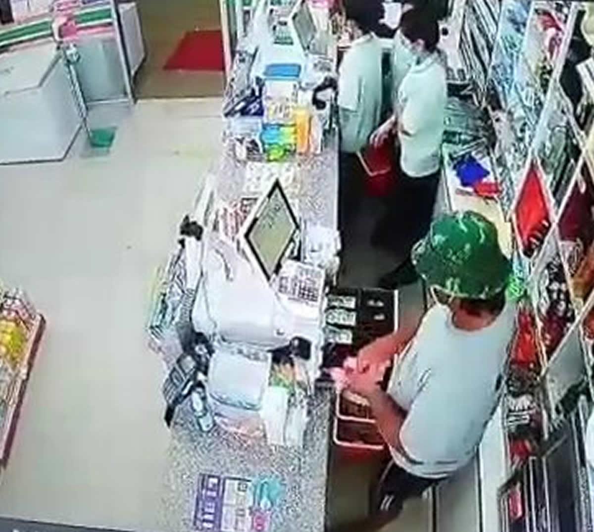 非武装コンビニ強盗、現金2,267バーツを奪って逃走
