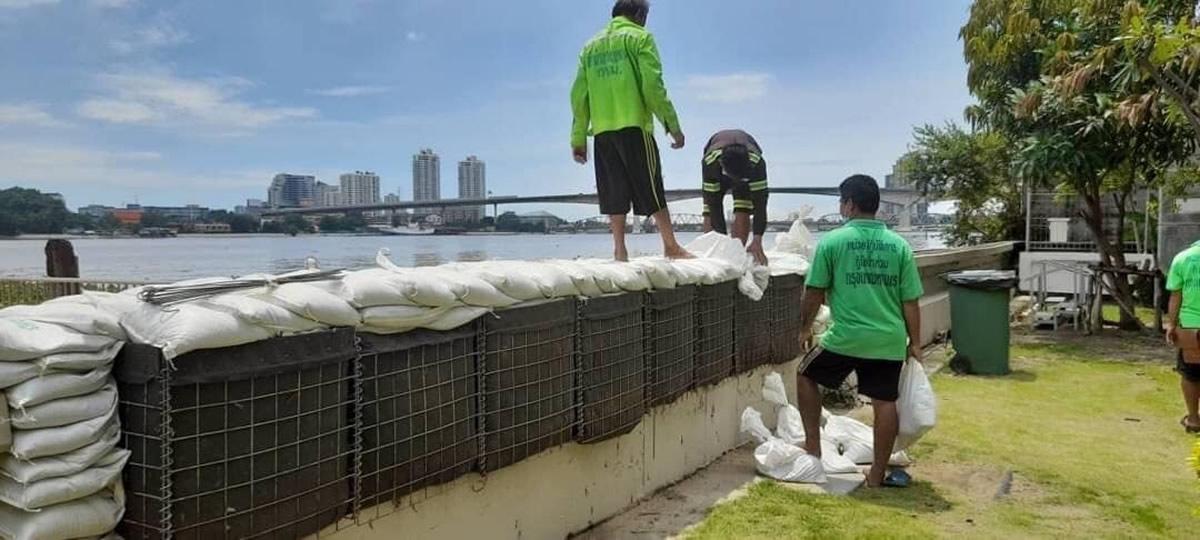 バンコク都が洪水に警告、大雨によるチャオプラヤー川の水位が上昇で満潮に注意