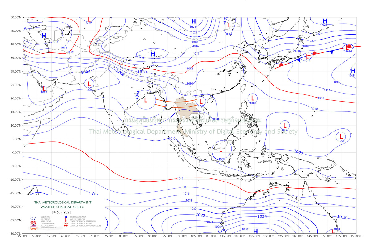 北部と東北部で局地的な豪雨の予報