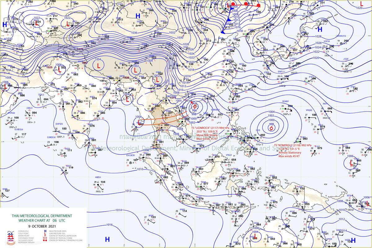 台風17号「ライオンロック」、ベトナム上陸で見込みでタイも警戒