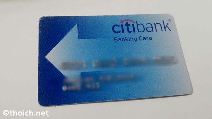 タイのシティバンク銀行ATMの引き出し限度額は5万バーツ