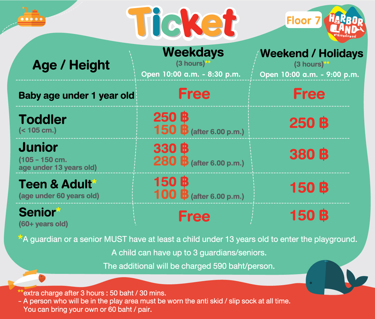 HARBOR LAND ticket
