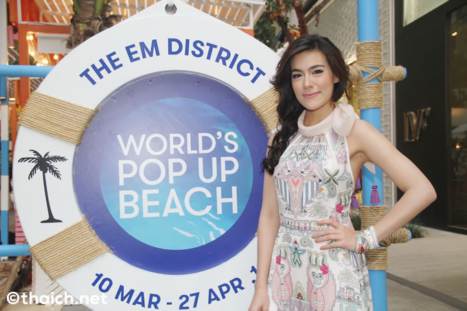 The EM District World's Pop-up beach