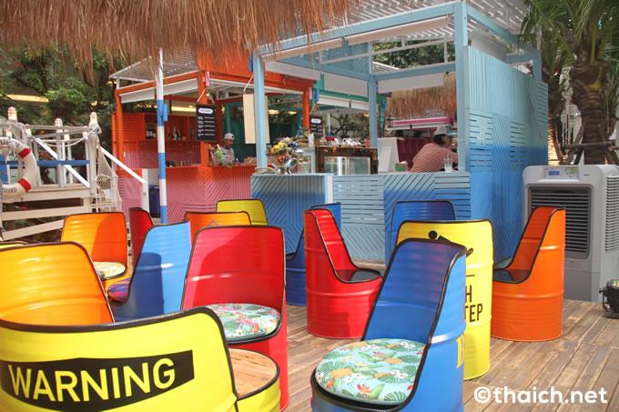 The EM District World's Pop-up beach