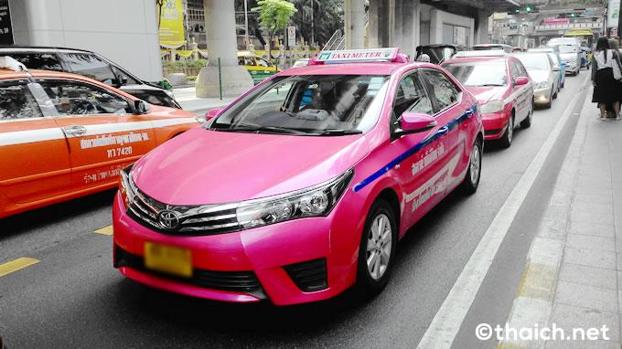 bangkok taxi pink