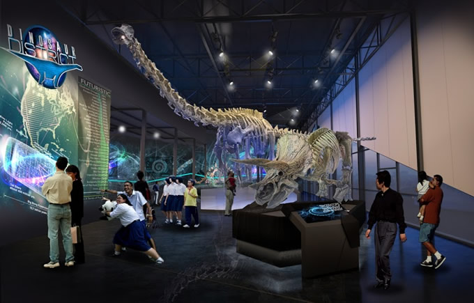 タイ・バンコクに恐竜パーク「ダイナソープラネット」