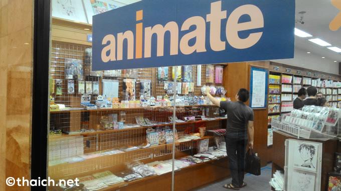 伊勢丹バンコク店の紀伊国屋書店にアニメイトコーナーがあった